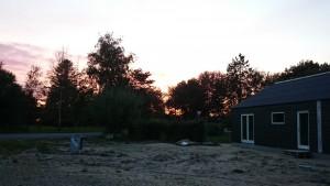 Skøn aften og flot solnedgang