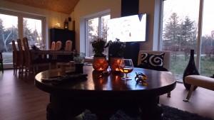Nytårsaften - en lille cognac og sidde og nyde vores byg selv projekt.