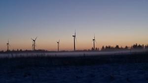 Der er så smukt med snedækkede marker på vej ud til Klitgård