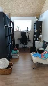 Dette bliver på et tidspunkt mit kontor og opbevaringsrum..