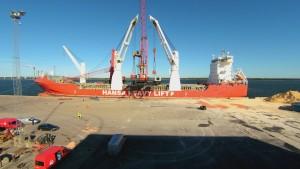 Havnearbejder ved Aalborg Stevedor Compagni
