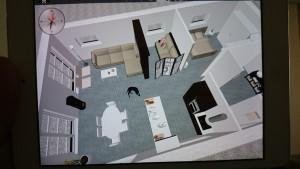 Sommerhuset er tegnet på ipad, på app til 79 kr